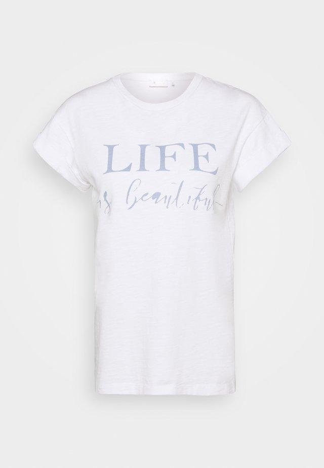 T-shirt imprimé - dove/blue
