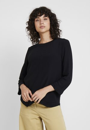BLOUSE WITH COLLAR - Blusa - black