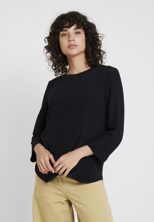 BLOUSE WITH COLLAR - Bluse - black
