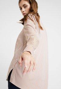 Rich & Royal - STRIPED BLOUSE - Button-down blouse - ginger brown - 3