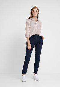 Rich & Royal - STRIPED BLOUSE - Button-down blouse - ginger brown - 1