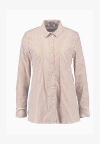 Rich & Royal - STRIPED BLOUSE - Button-down blouse - ginger brown - 5