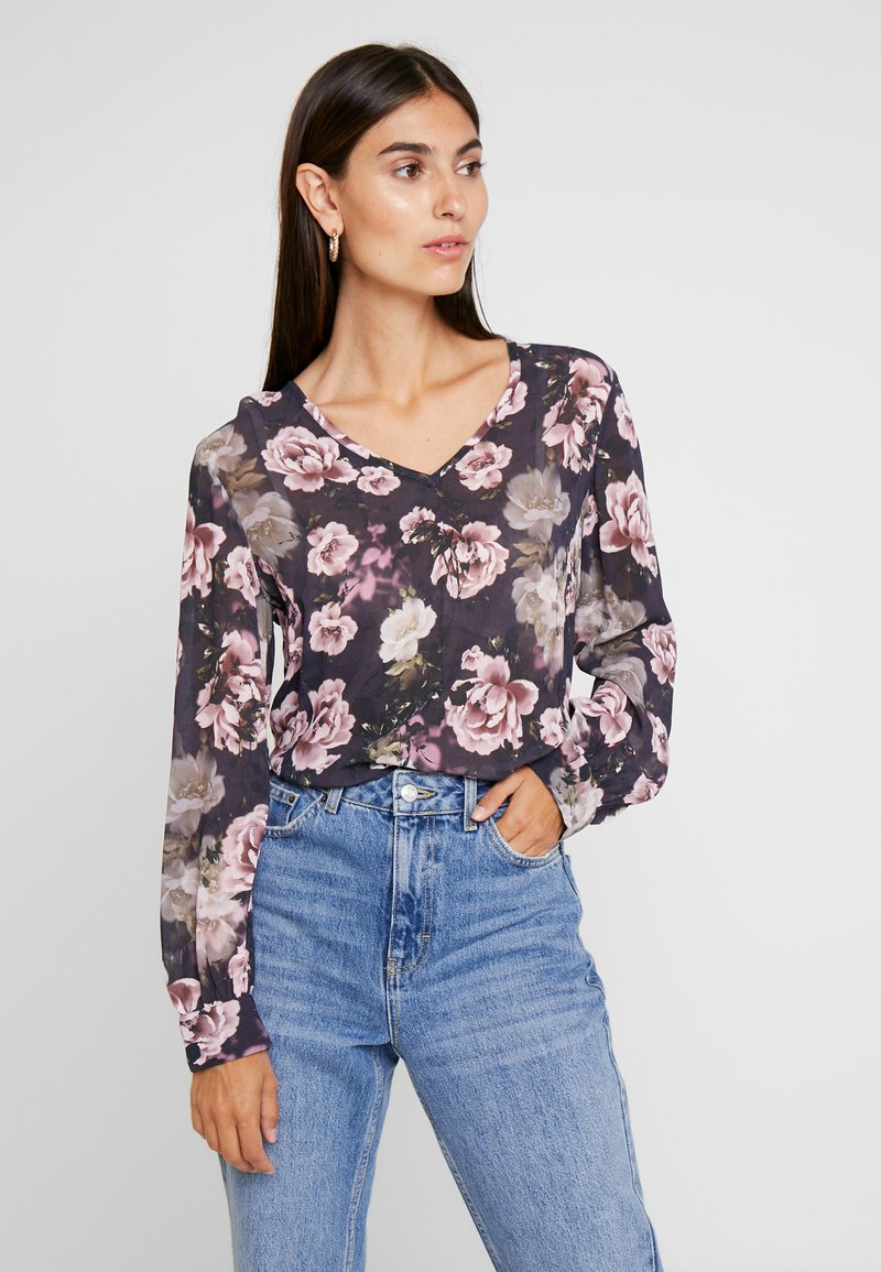 Rich & Royal - BLOUSE WITH FLOWER PRINT - Bluse - deep blue