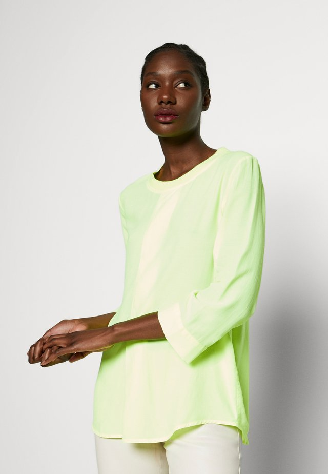 BLOUSE WITH COLLAR - Blouse - neon yellow