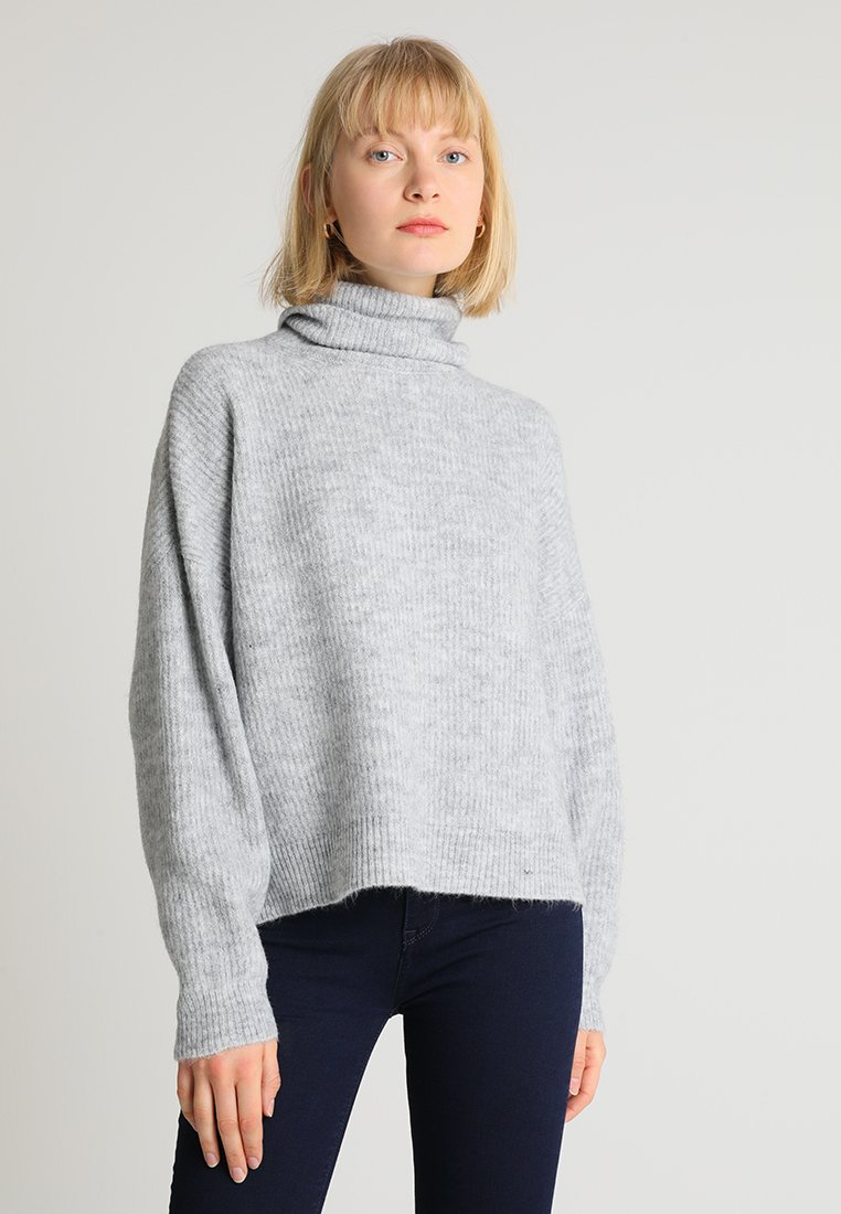 Rich & Royal - TURTLE NECK - Strickpullover - grey melange
