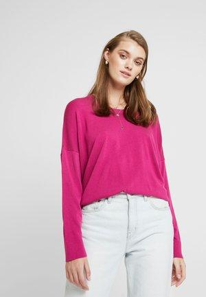 CREW NECK HI-LOW - Jersey de punto - raspberry pink