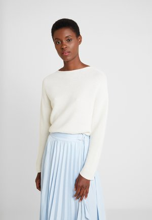 MOCK NECK - Strickpullover - pearl white