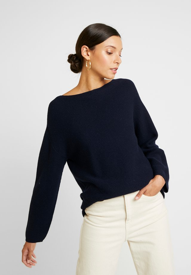 MOCK NECK - Strickpullover - deep blue