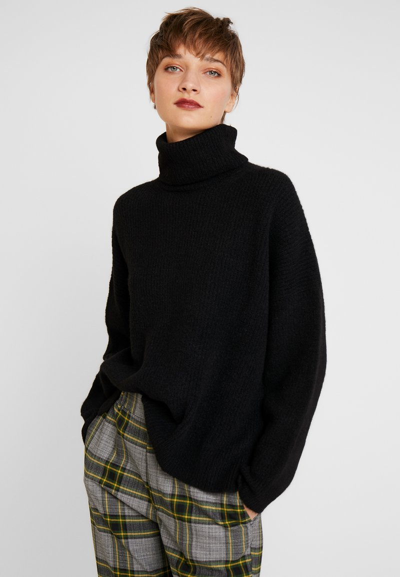 Rich & Royal - TURTLENECK - Strikkegenser - black