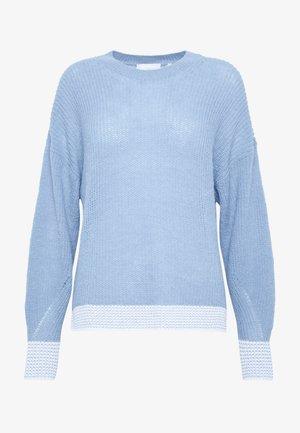 CREW NECK CONTRAST CUFF - Maglione - spring blue