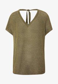 Rich & Royal - CREW NECK TIE BACK - T-shirts med print - safari green - 3