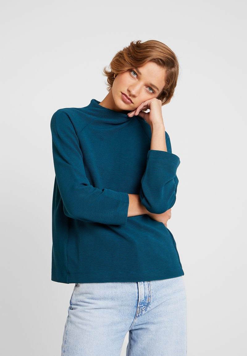 Rich & Royal - COMFY TURTLE - Long sleeved top - petrol blue