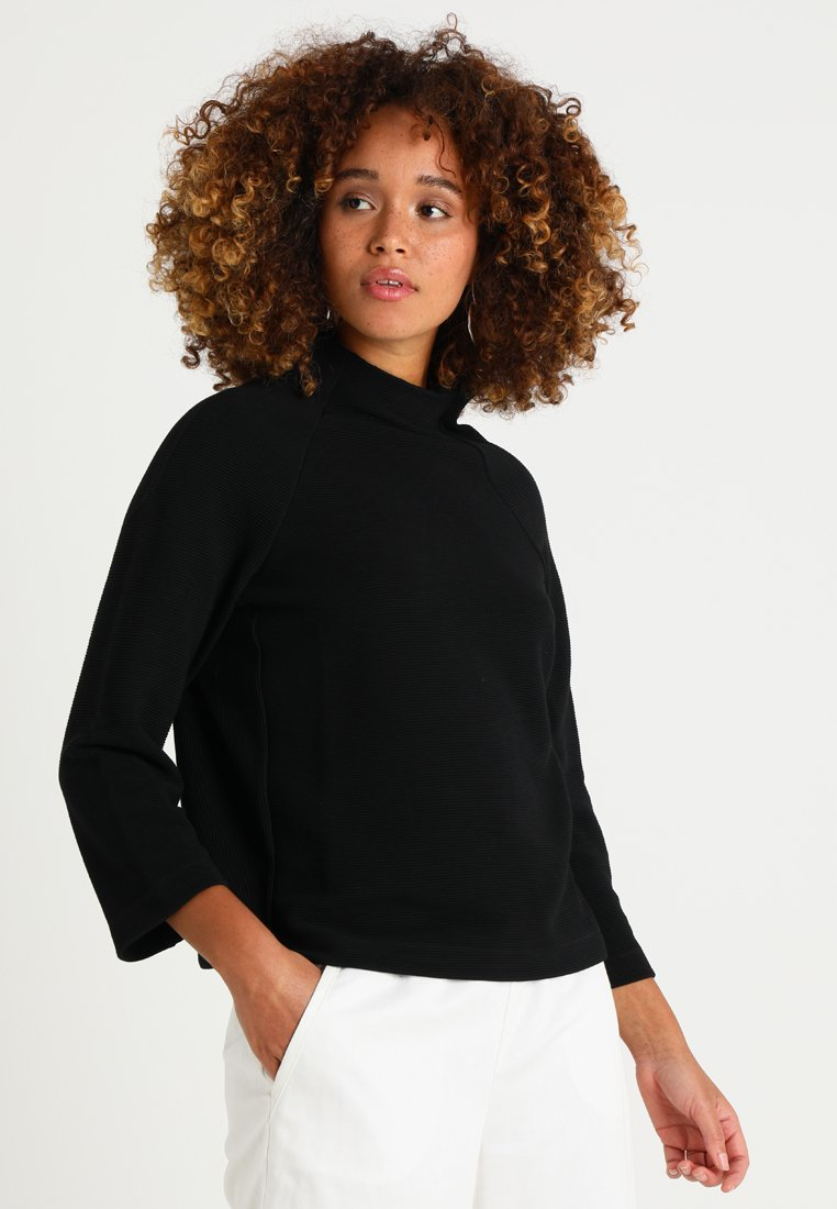 Rich & Royal - COMFY TURTLE - Long sleeved top - black
