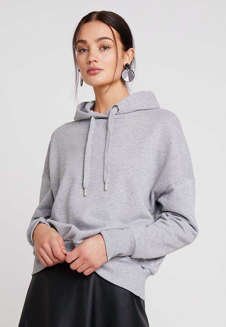 Rich & Royal HOODIE - Bluza z kapturem - grey melange