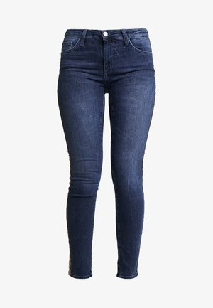 LEOPARD TAPE - Skinny džíny - denim blue