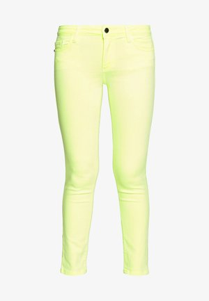 MIDI JEAN - Jeans slim fit - neon yellow