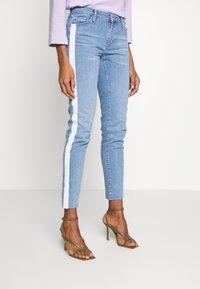 Rich & Royal - MIDI STRIPE - Jeans Slim Fit - denim blue - 0