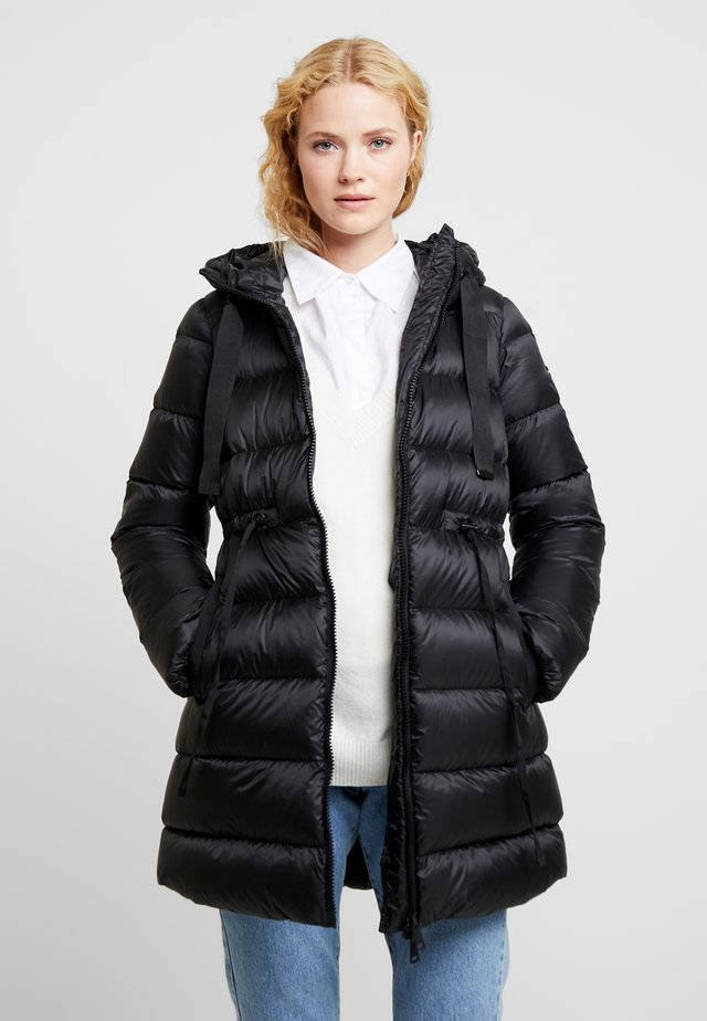 LONG - Down coat - black