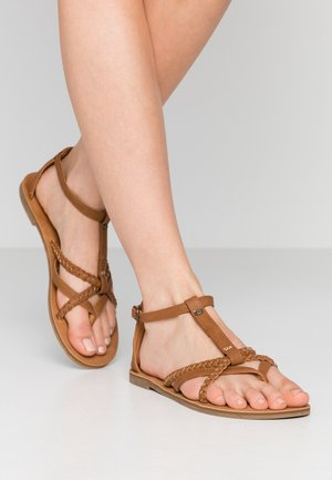 ANOUK - T-bar sandals - tan