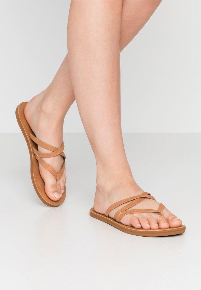 CARA - T-bar sandals - tan