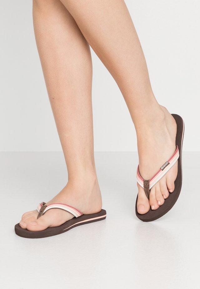 FREEDOM - T-bar sandals - rust