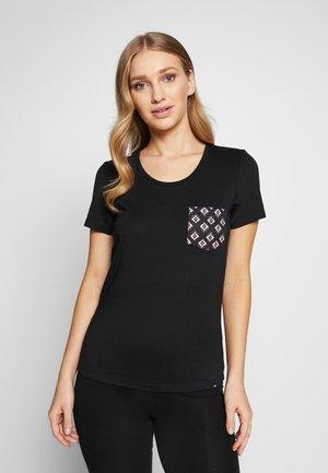 ISLAND POCKET TEE - Nachtwäsche Shirt - black