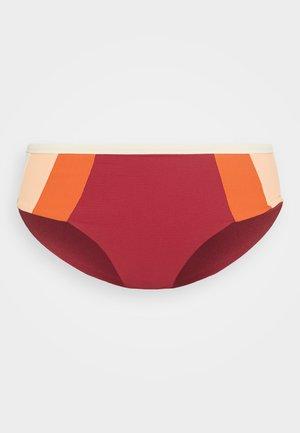 GOLDEN DAYS BLOCK  - Bikini bottoms - maroon