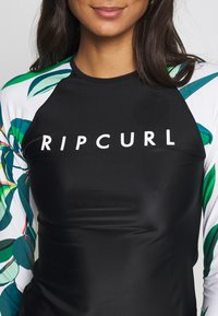 Rip Curl - BLANCO BAY RELAXED - Rash vest - black/white