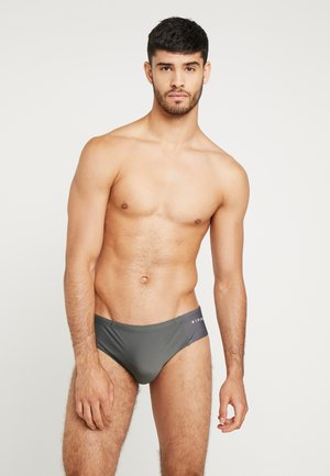 SLIPPO SWIMWEAR - Swimming briefs - charcoal grey