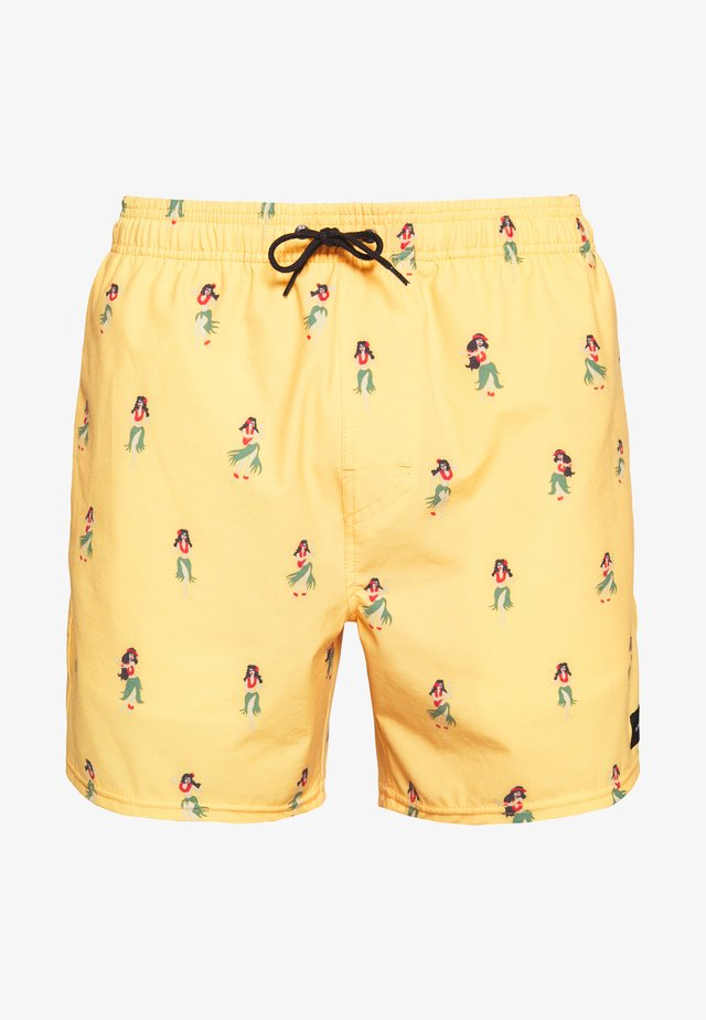 TROPICAL VIBES VOLLEY - Surfshorts - washed yellow
