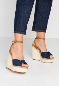 River Island - High Heel Sandalette - denim - 0