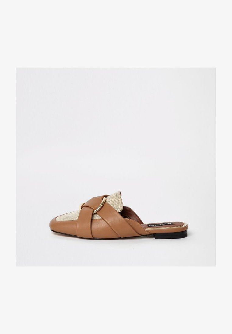 River Island - Pantolette flach - brown