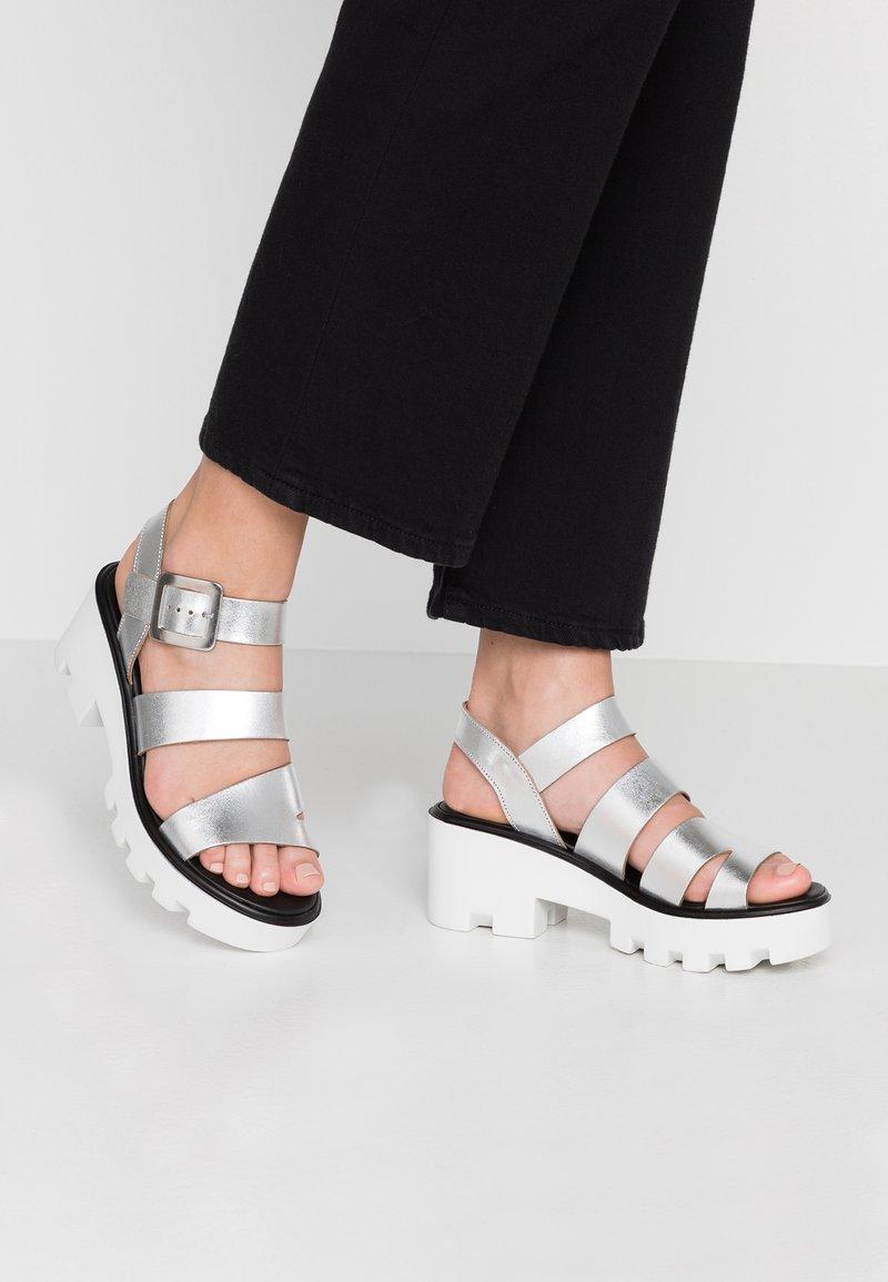 River Island - Platform sandals - silver
