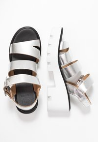 River Island - Platform sandals - silver - 3
