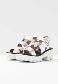 River Island - Platform sandals - silver - 4