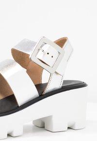 River Island - Platform sandals - silver - 2