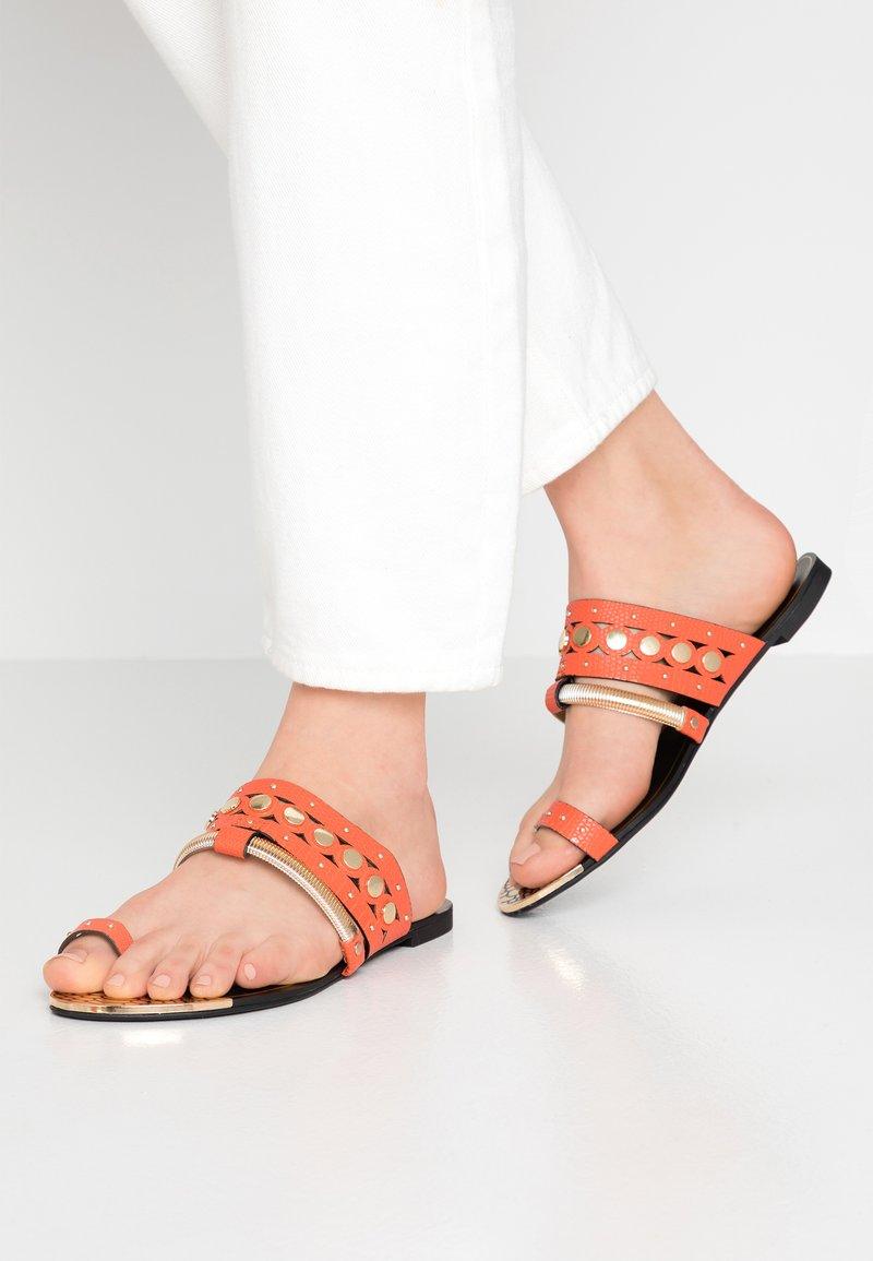 River Island - T-bar sandals - orange