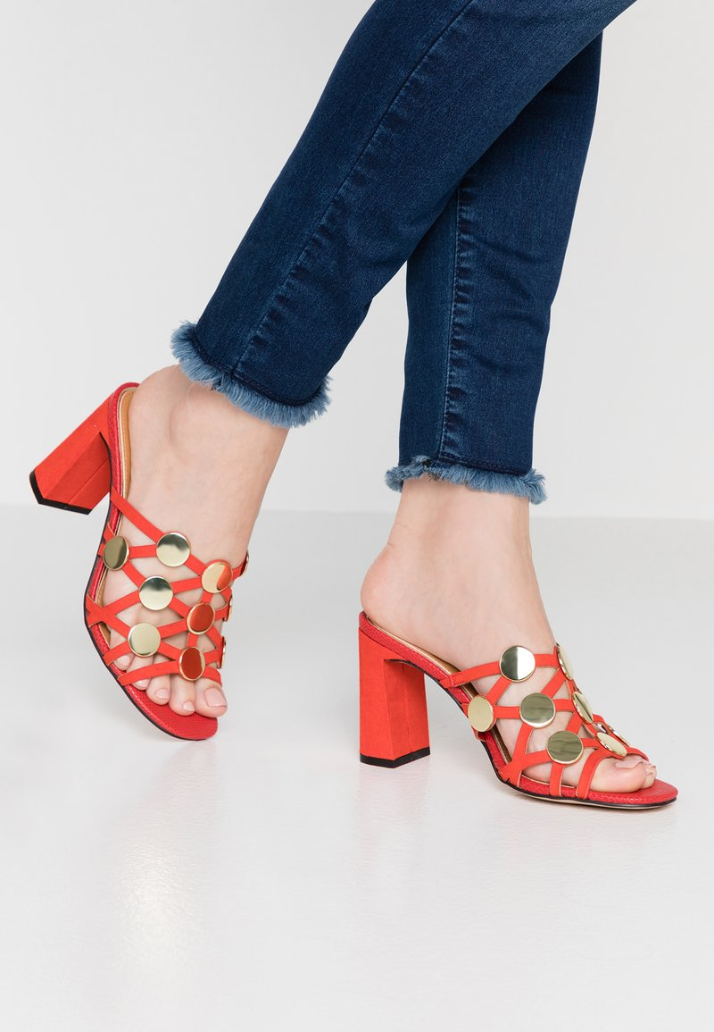 River Island - Heeled mules - red