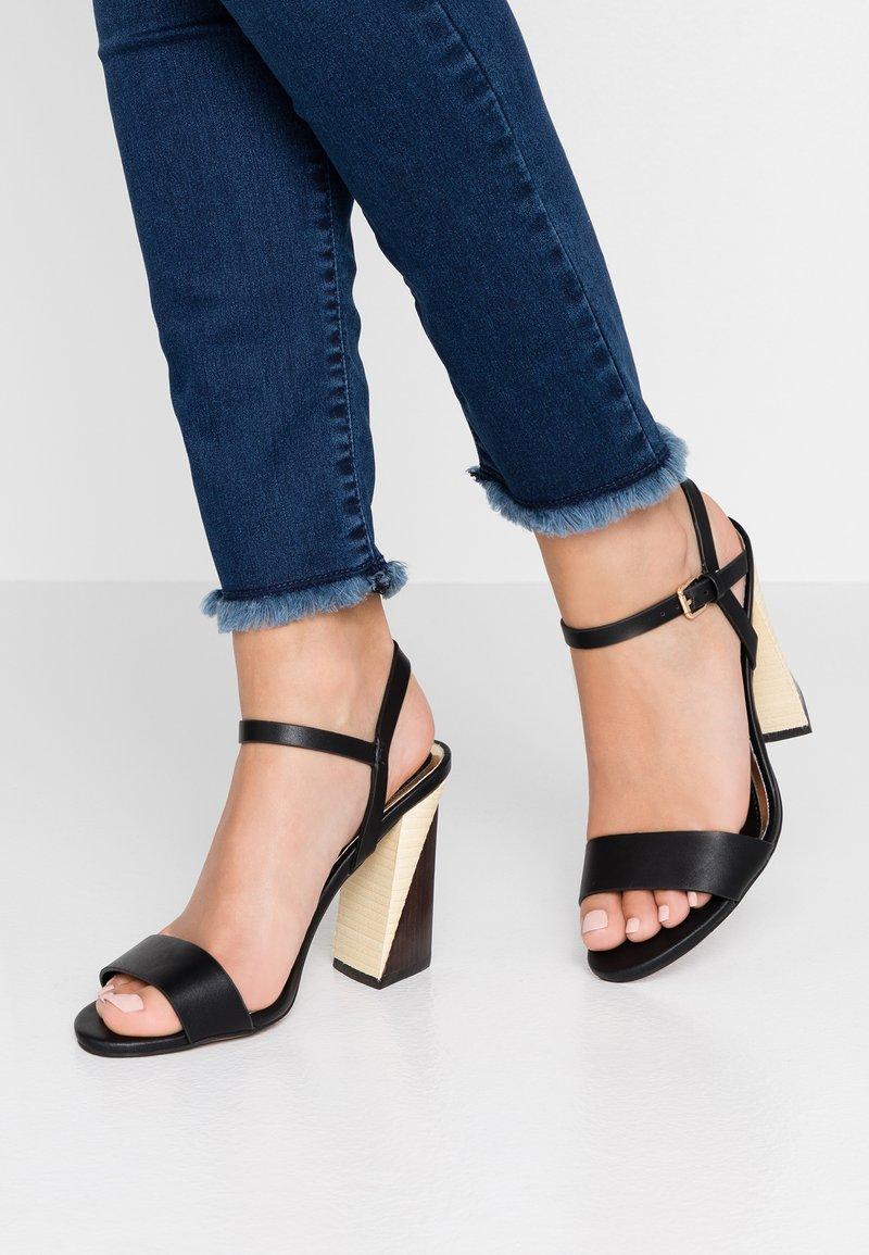 River Island - Højhælede sandaletter / Højhælede sandaler - black