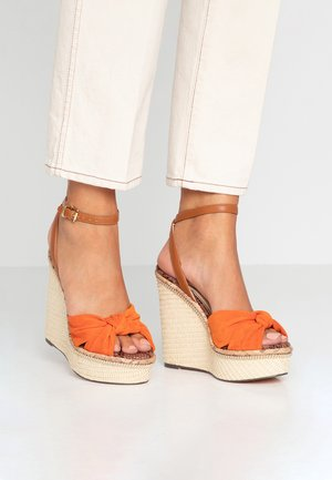 High Heel Sandalette - orange