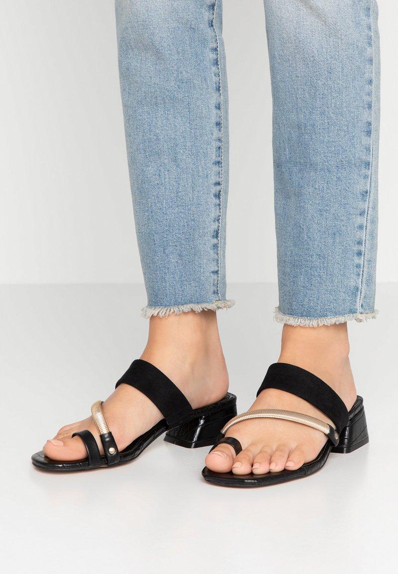 River Island - T-bar sandals - black