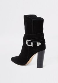 River Island - WESTERN - High heeled ankle boots - black - 3