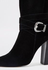 River Island - WESTERN - High heeled ankle boots - black - 4