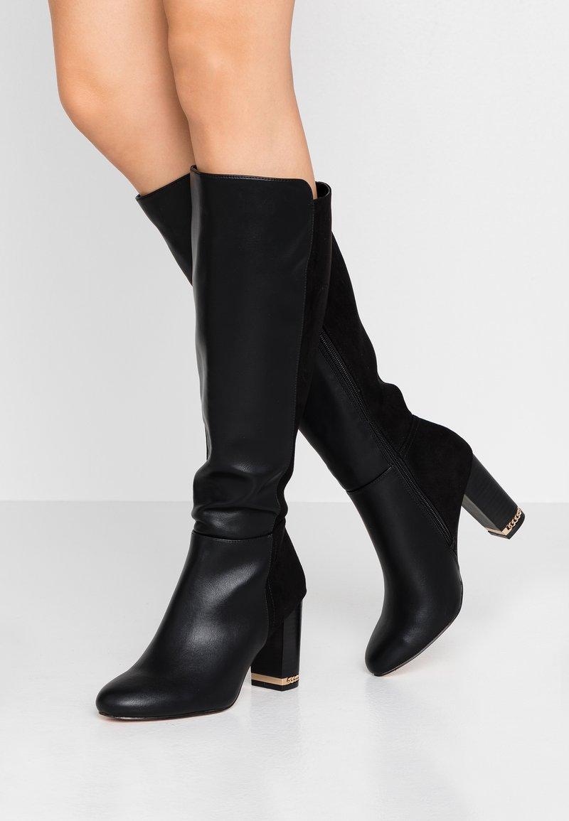 River Island - Boots med høye hæler - black