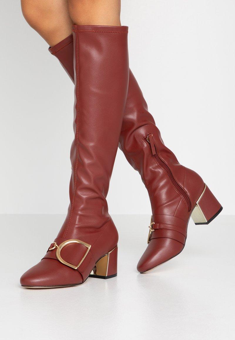 River Island - Boots - red dark