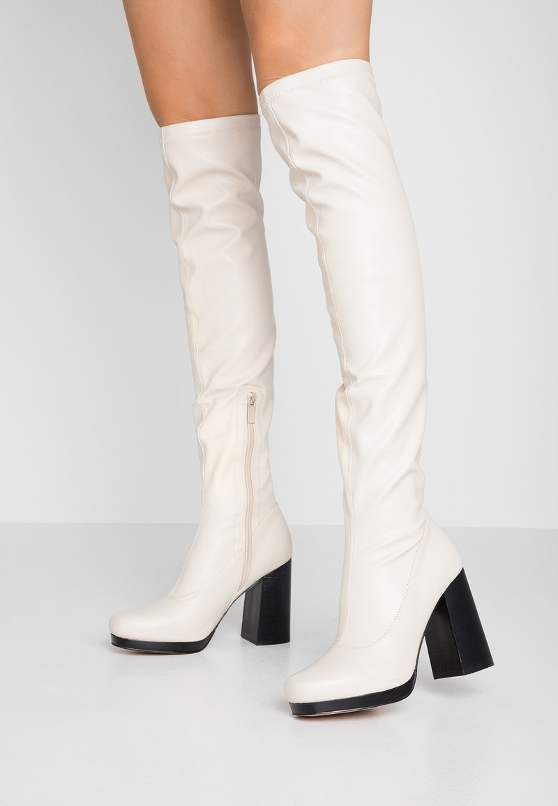 River Island - High heeled boots - white