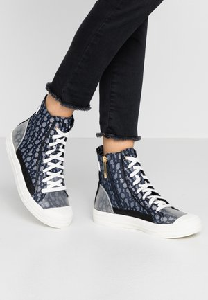 Baskets montantes - denim
