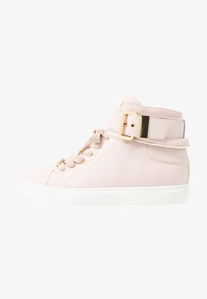 High-top trainers - light pink