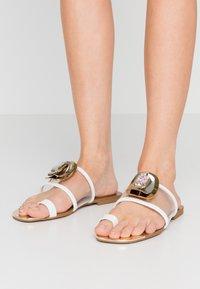 River Island - T-bar sandals - white - 0