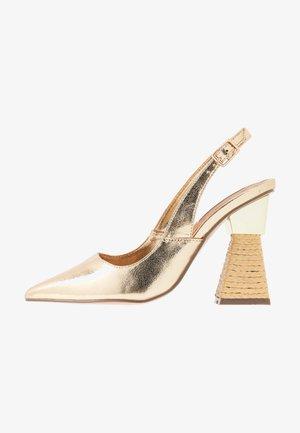 Lodičky na vysokém podpatku - gold